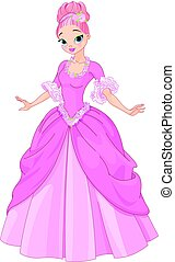 Beautiful Fairytale Princess - Illustration of beautiful...