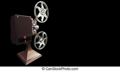 Projector film on black - Render of projector film shows on...