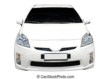 hybrid car isolated front view