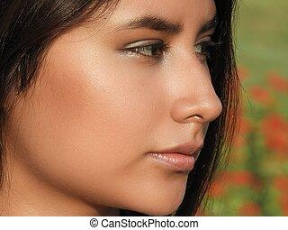 Unemotional Beautiful Female