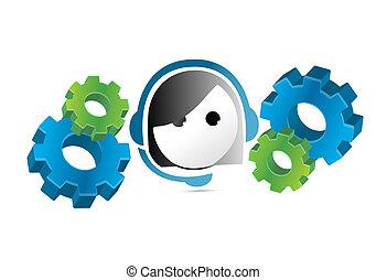webinar support concept illustration design over a white...