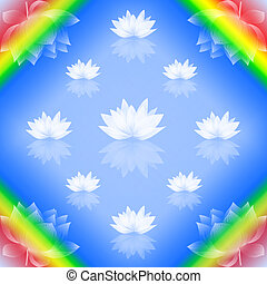 Abstract lotus background