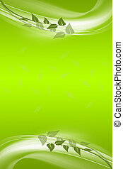 Abstract background of green leaves