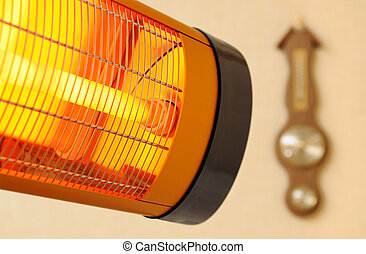 Infrared heater - Infra-red heater and barometer with...