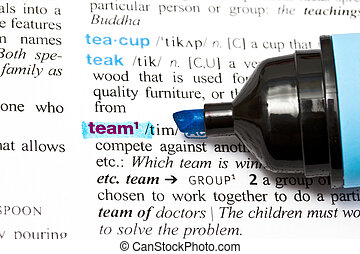 "The word ""TEAM"""