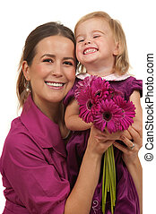 Mothers Day or Birthday Gift - Cute toddler and her mother...