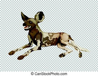 Hyena on transparent background illustration