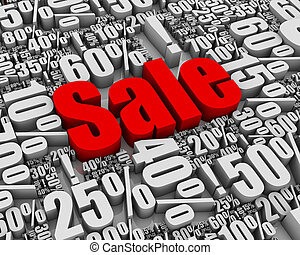 Sale! - Batch of sale related 3D words. Part of a series.