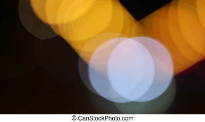 Colorful bokeh on black background - Colorful bokeh on a...
