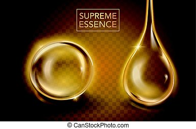 Supreme essence template, translucent essence oil with...