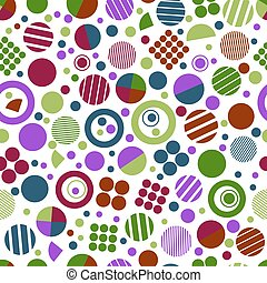 Seamless geometric pattern with circles for tissue and...