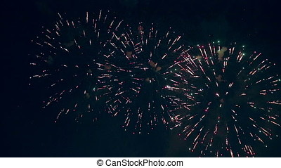 Gorgeous colourful fireworks are shooted. - Lots of...