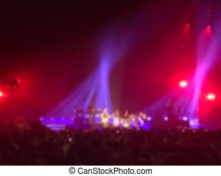 blurred concert background light show