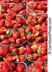 Background from freshly harvested strawberries,directly...