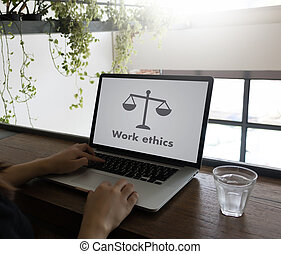 Work ethics Justice Law Order Legal working Professional