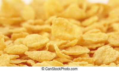 Corn flakes without glaze - In the white surface kukurznye...
