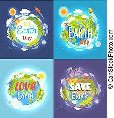 Earth Day 2017 Advertising Posters Collection