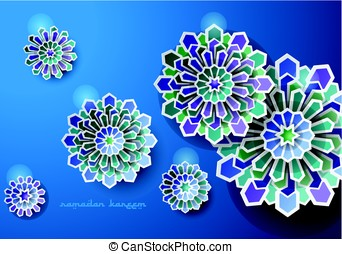 Islamic Art Design Greeting Vector Card