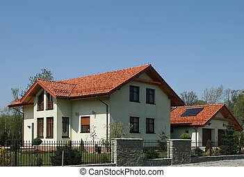 Big home - New single family home with red slate roof