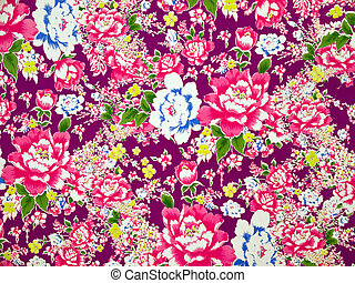 Classical Fabric with floral Pattern background - High...
