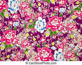 classico, tessuto, floreale, modello, fondo