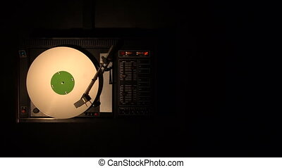 Vinyl record pleer. Plays song from an old turntable 4k top...