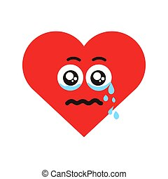 Crying heart vector illustration
