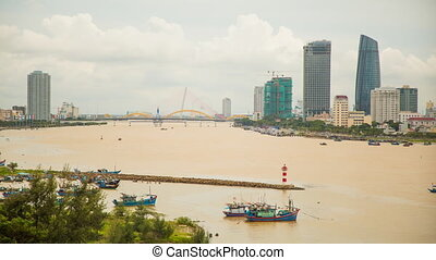 Panorama of Da Nang city skyline. - Panorama of Da Nang city...