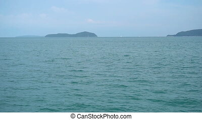 Tropical seascape, Phuket - Pan of Bay of Rawai in Phuket,...
