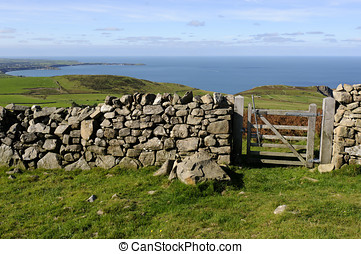 Llyn Peninsula - View across farmland on the northern coast...