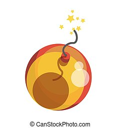 Bomb sparkling with stars - Vector illustration of...