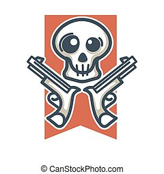 Skull with weapons emblem