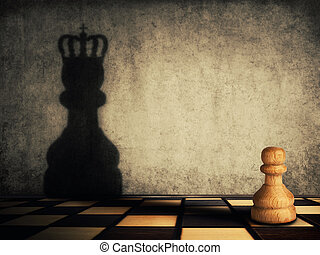 pawn glorification - Pawn chess piece glorification, casting...