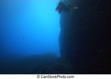 underwater diving video