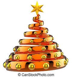 Estratto, arancia, Natale, albero