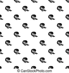 Wave pattern seamless in simple style  illustration