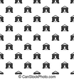 Colonnade pattern seamless in simple style  illustration