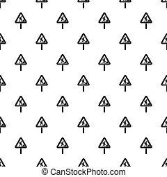 Road works sign pattern seamless in simple style...