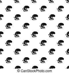Surf wave pattern seamless in simple style  illustration