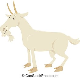 funny goat animal character - Cartoon Illustration of Funny...