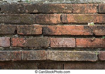 Acient brick wall. Grunge brick wall background. Background...