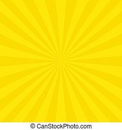Abstract sun burst background from radial stripes - Yellow...