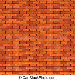 Orange seamless brick wall, pattern stonework background -...