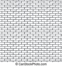 White seamless brick wall, pattern stonework background -...