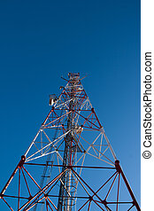 comunication antenna - Comunication antenna against blue sky
