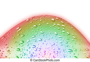 Drop water - drop water on white background