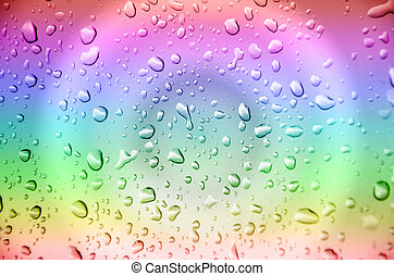 Drop water - abstract drop water with multicolor background
