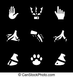 Vector Set of Limbs Icons.