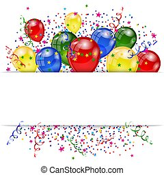 set of colorful balloons - Balloons greeting card. Happy...