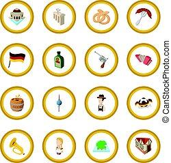 Germany cartoon icon circle cartoon isolated vector...